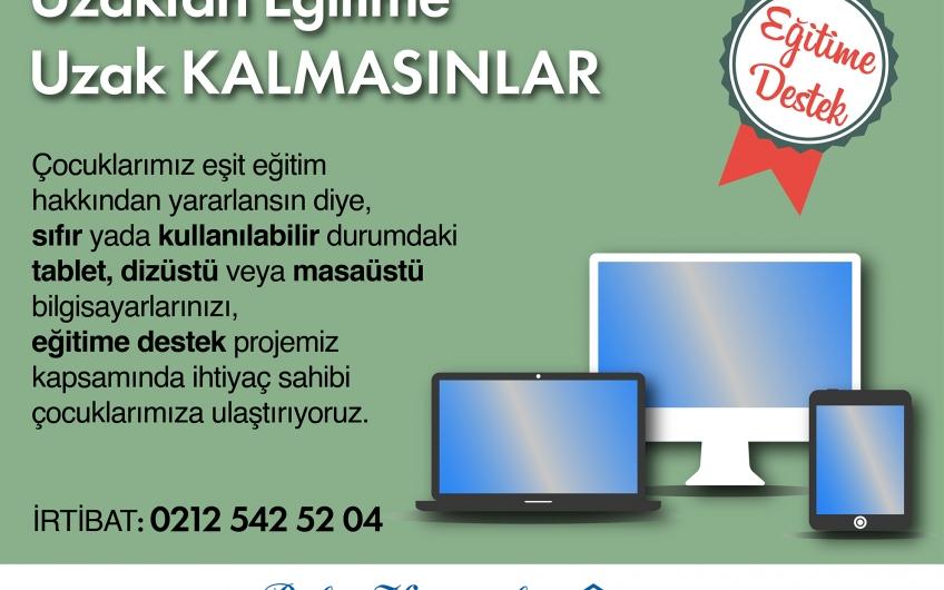 """BAKIRKÖY'DE """"UZAKTAN EĞİTİME UZAK KALMASINLAR"""" KAMPANYASI"""