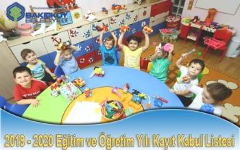 2020 Eğitim Yılı Çocuk Evleri Kesin Kayıt Listesi
