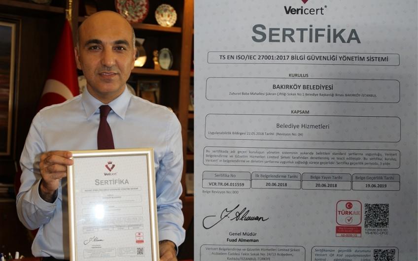 ISO27001:2013 BELGESİNE SAHİP İLK BELEDİYE OLDUK
